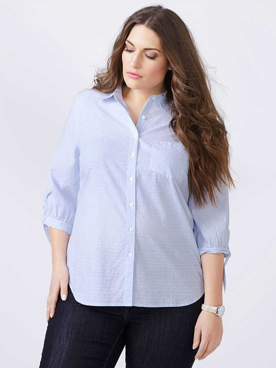 Knotted Sleeve Cotton Blouse - d/c JEANS
