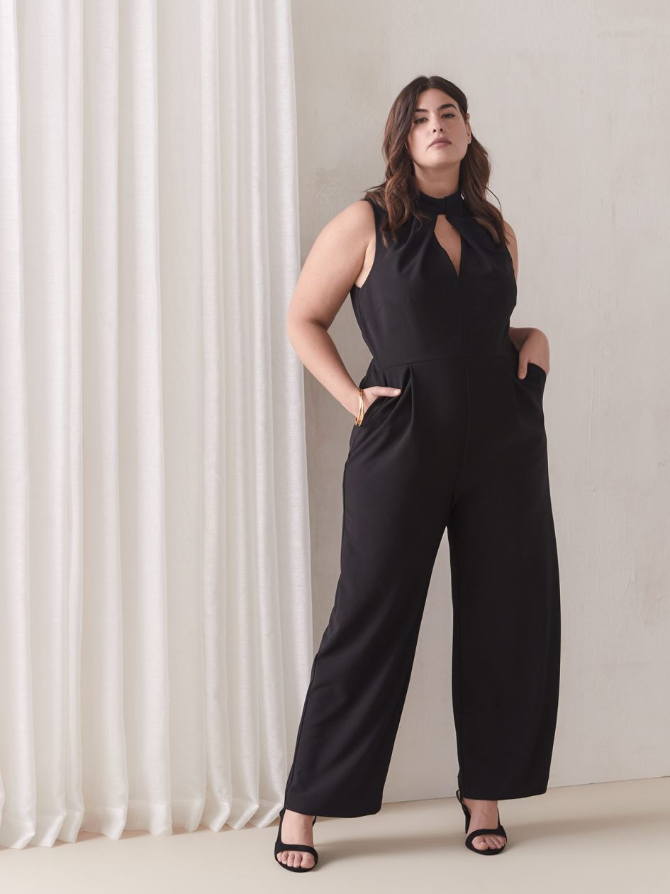 Sleeveless Black Jumpsuit - Addition Elle
