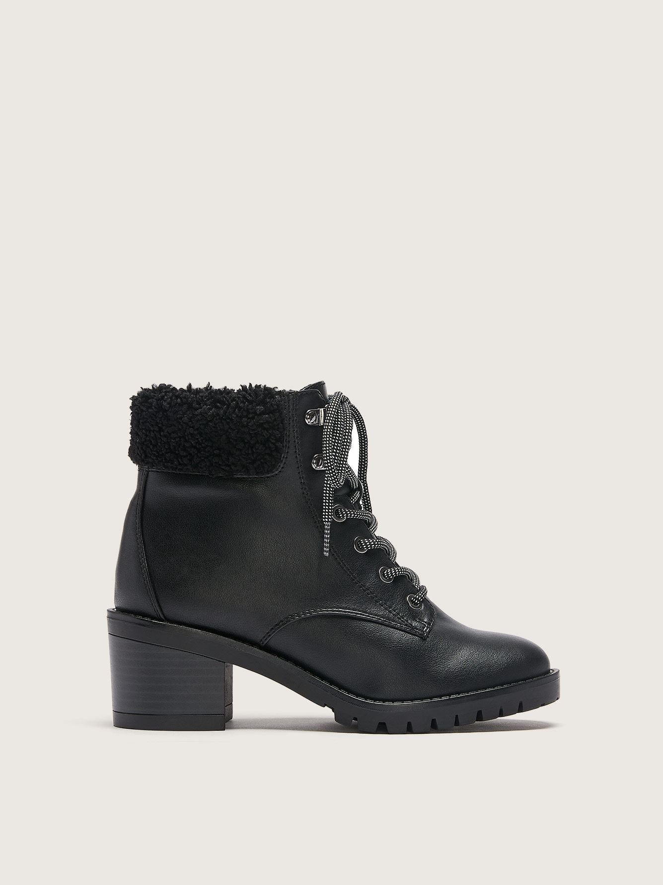 Wide Combat Winter Boots - Addition Elle