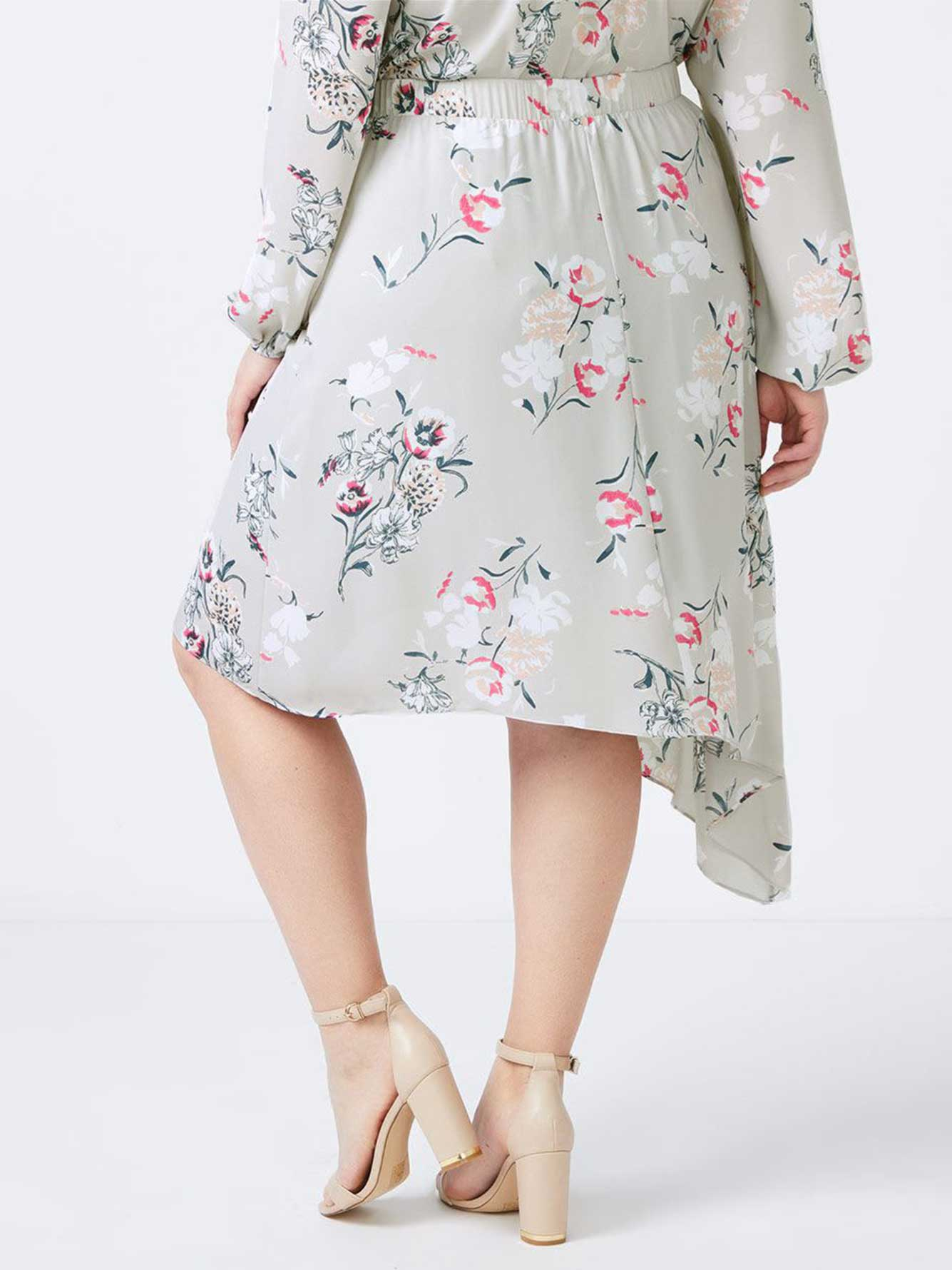 Asymmetric Floral Skirt - In Every Story