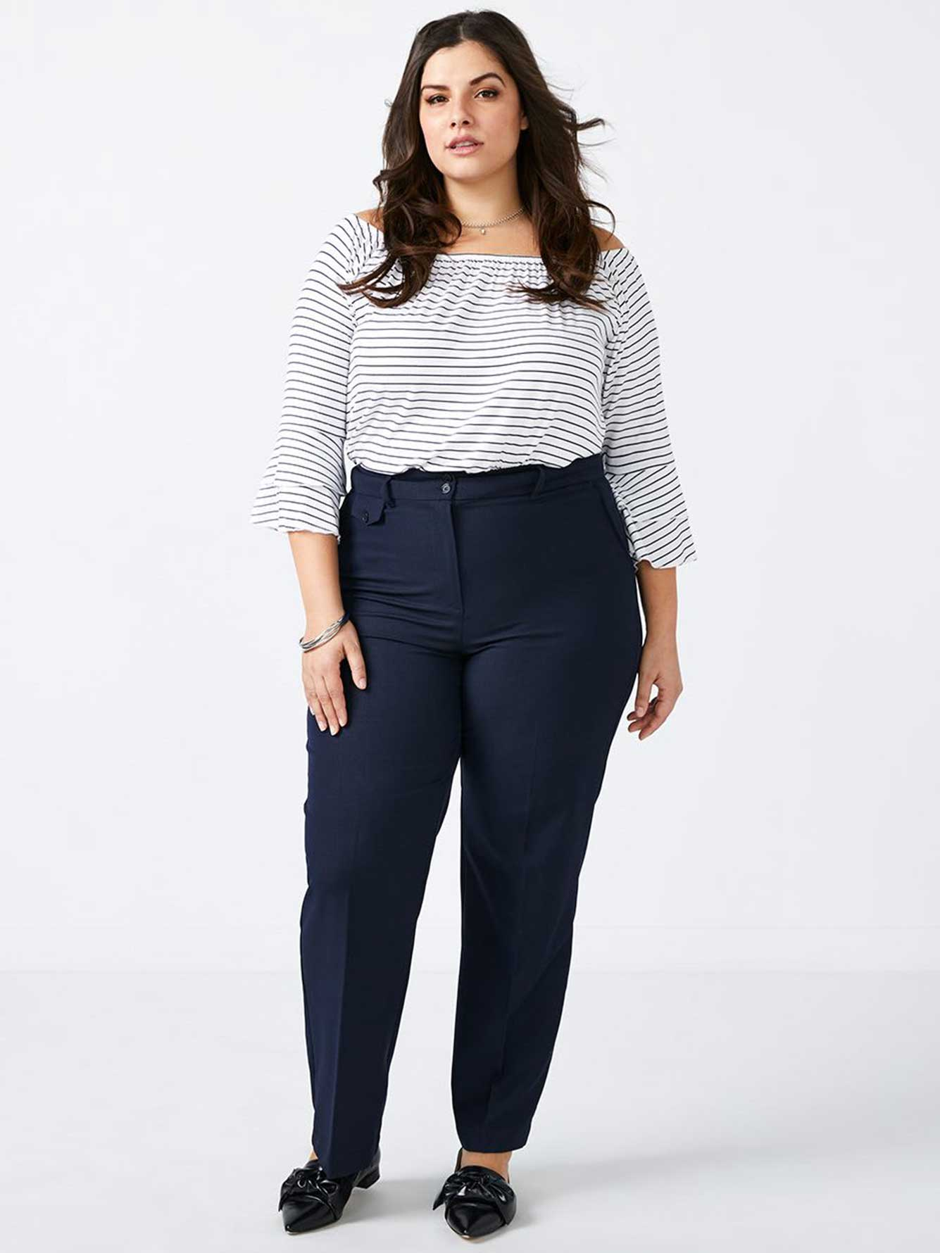 ONLINE ONLY - Tall Curvy Fit Straight Leg Patterned Pant