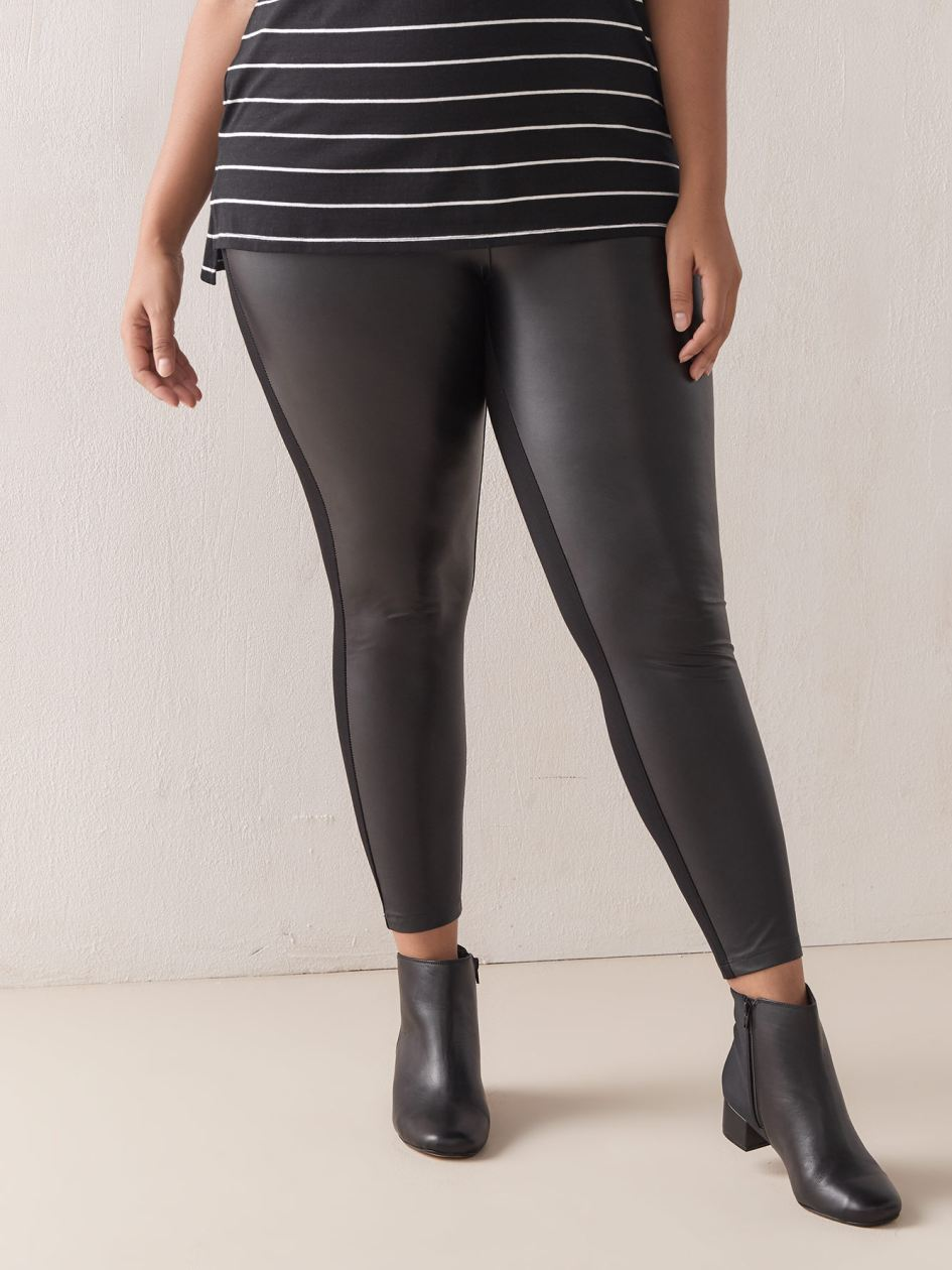 Solid Mix Media Legging - Addition Elle