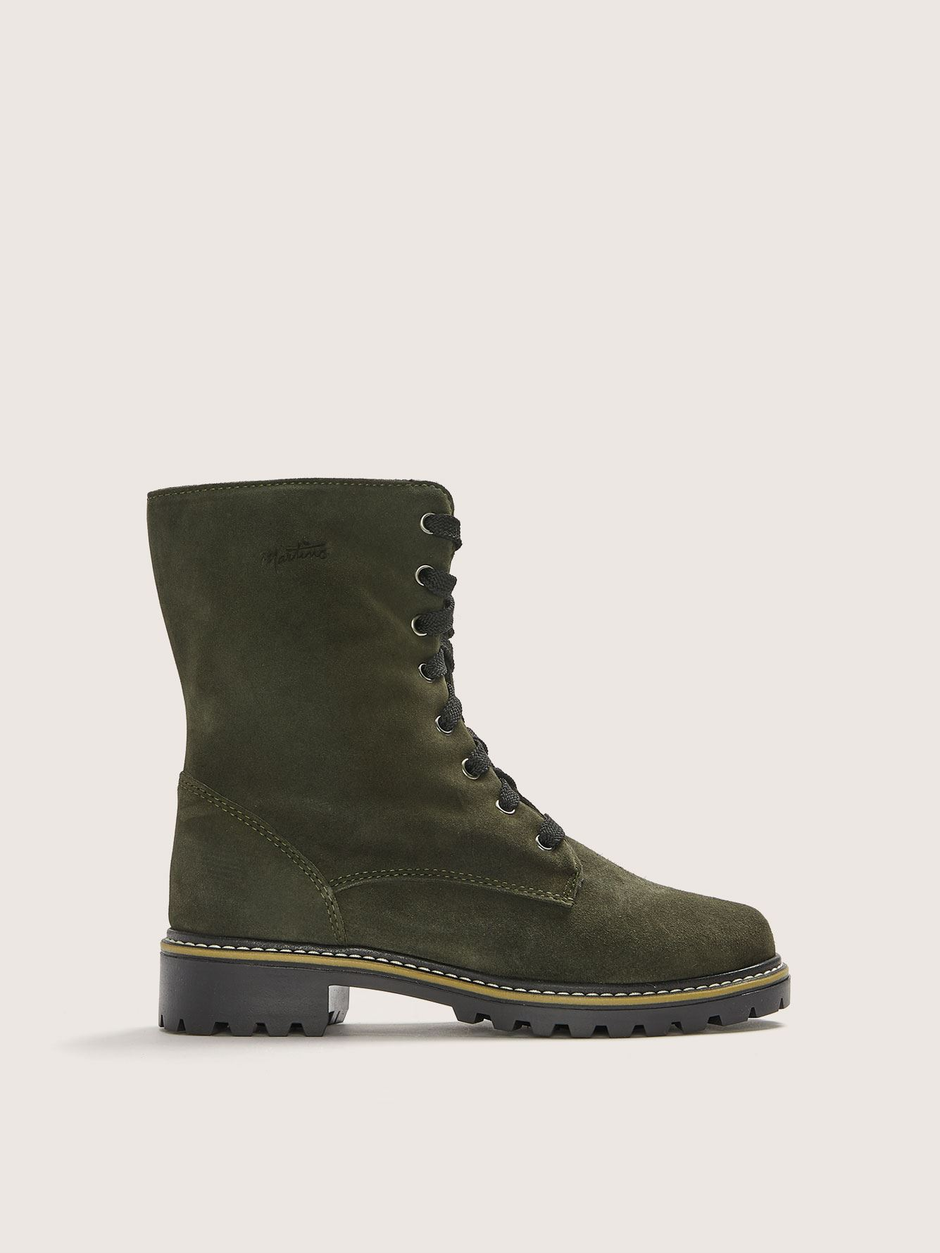 Wide Suede Combat Boot - Martino
