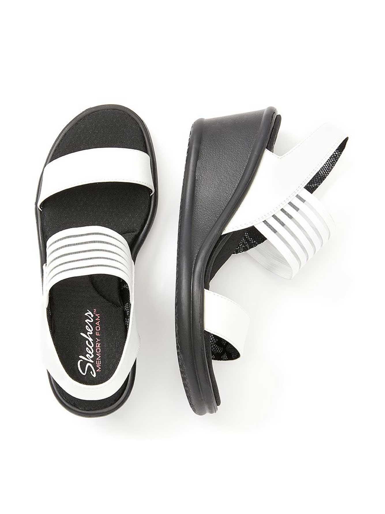 Wide-Width Wedge Sandals - Skechers
