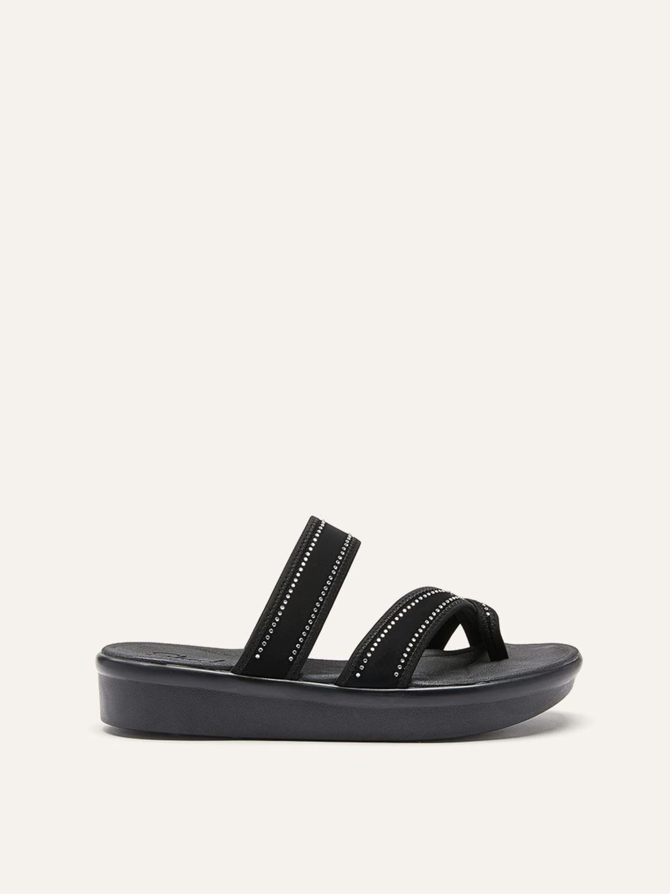5de087bb7cbf7b Skechers - Rhinestone Slide Sandals
