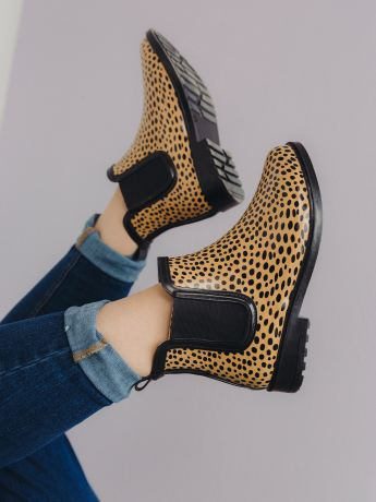 Wide-Width Chelsea Rain Boot, Cheetah Print - Addition Elle
