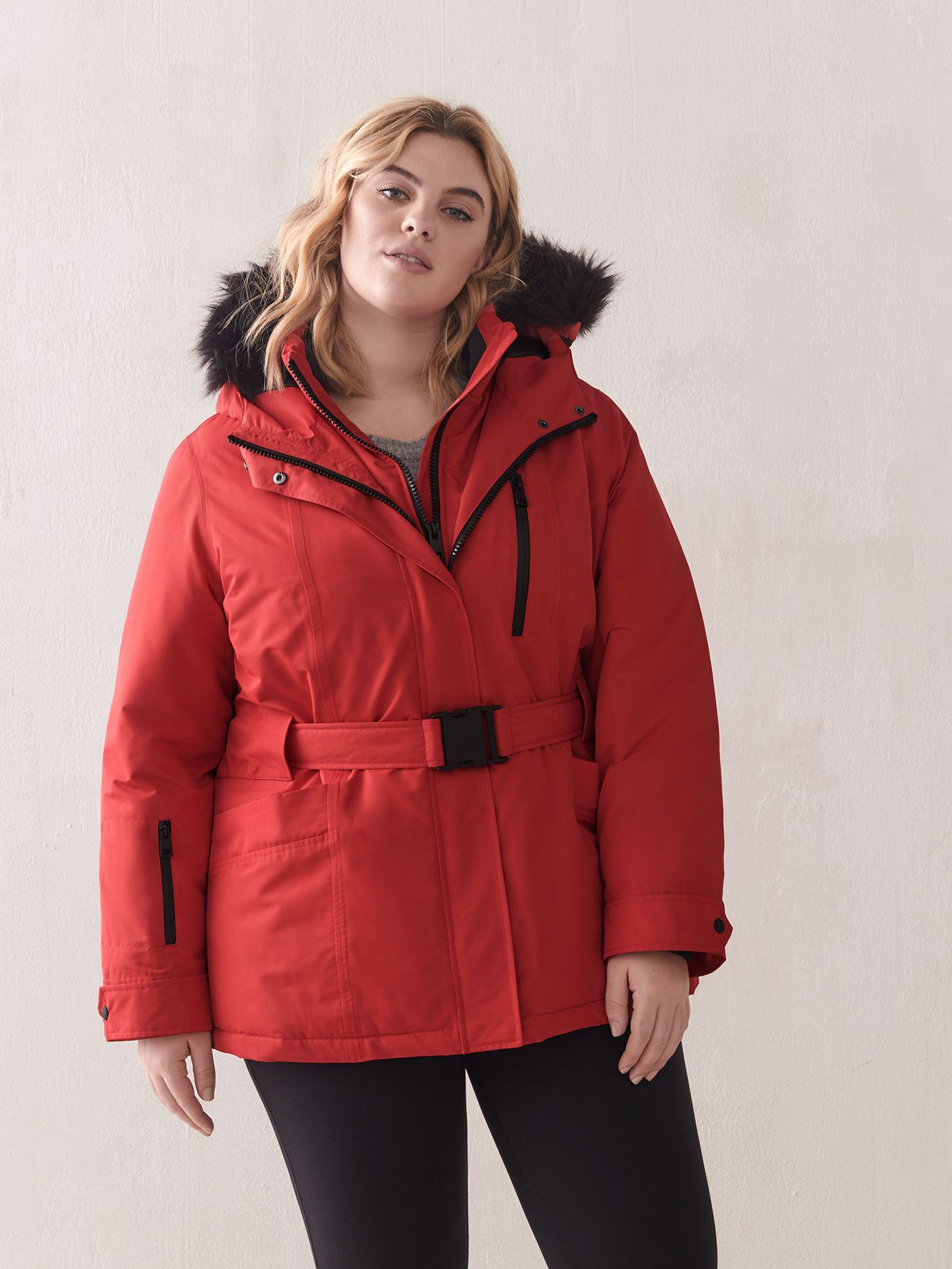 Belted Ski Jacket - Addition Elle
