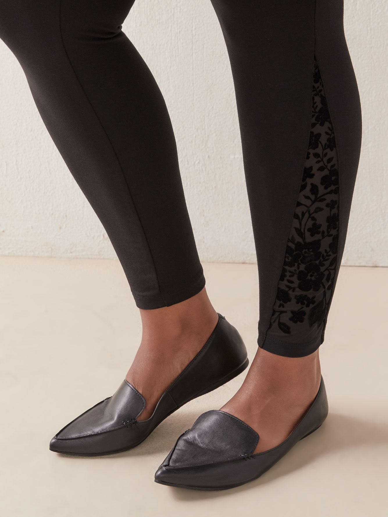 Legging with Side Mesh - Addition Elle