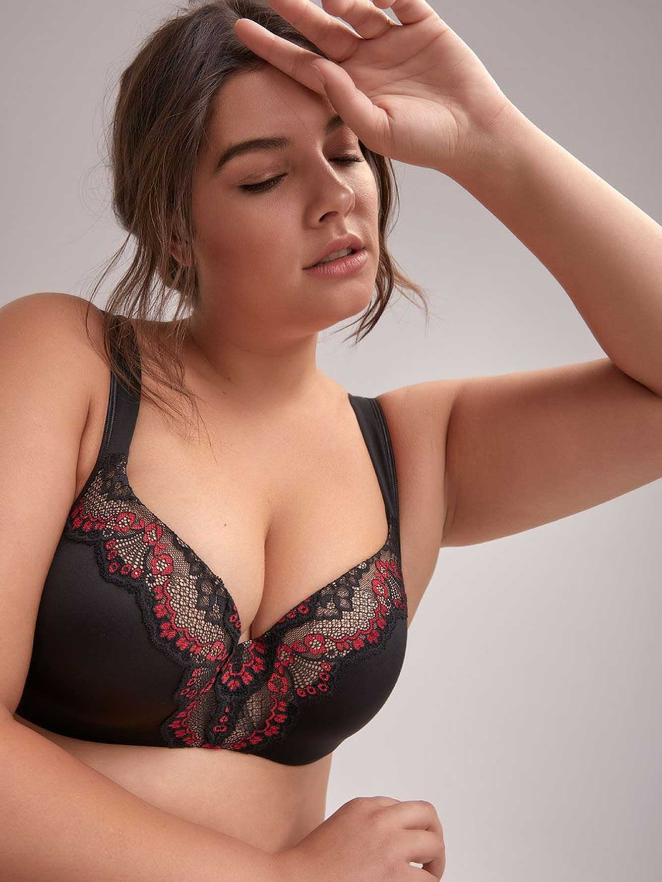 99dfa7b53d3ff Padded T-Shirt Bra with Two Tone Lace