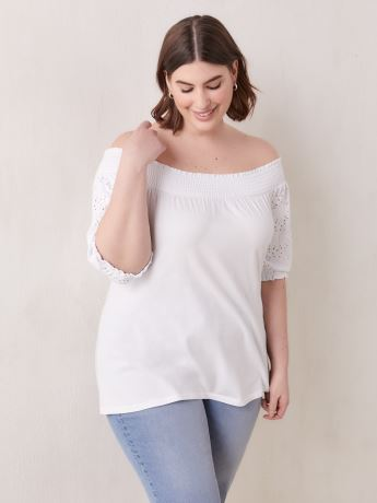 Elbow-Length Sleeve Off-Shoulder Top - In Every Story