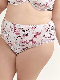Printed Brief Panty with Lace - ti Voglio
