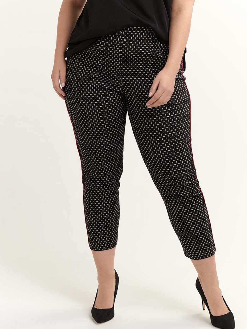 dd94dc19951 Printed Savvy Chic Ankle Pant
