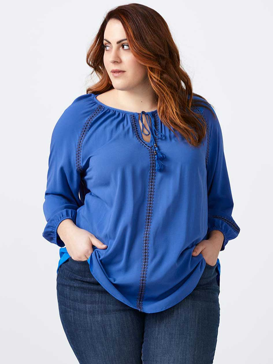 Embroidered Blouse with Tassels - d/C JEANS