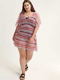 Printed Swimsuit Cover-Up - Sea