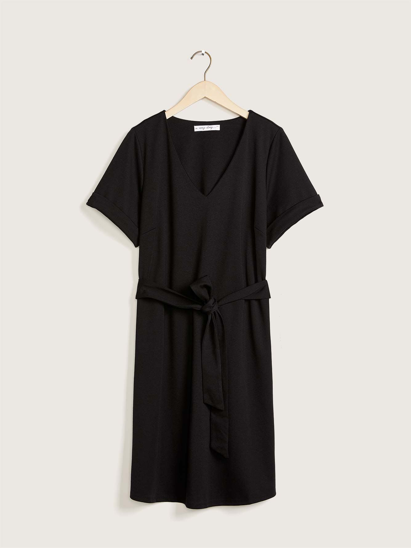 Solid Belted Shirt Dress - In Every Story
