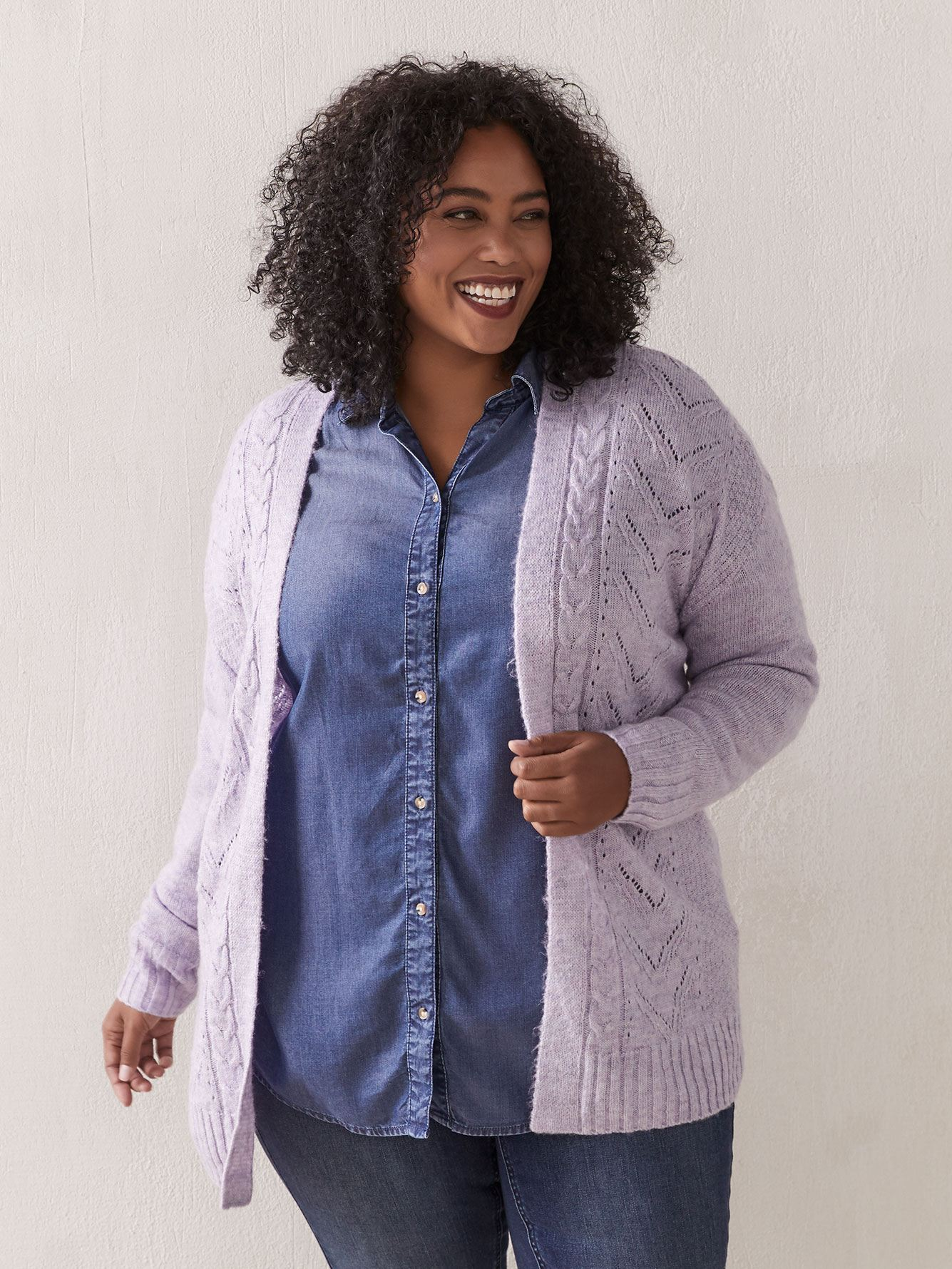 Cable Stitch Open Cardigan - In Every Story