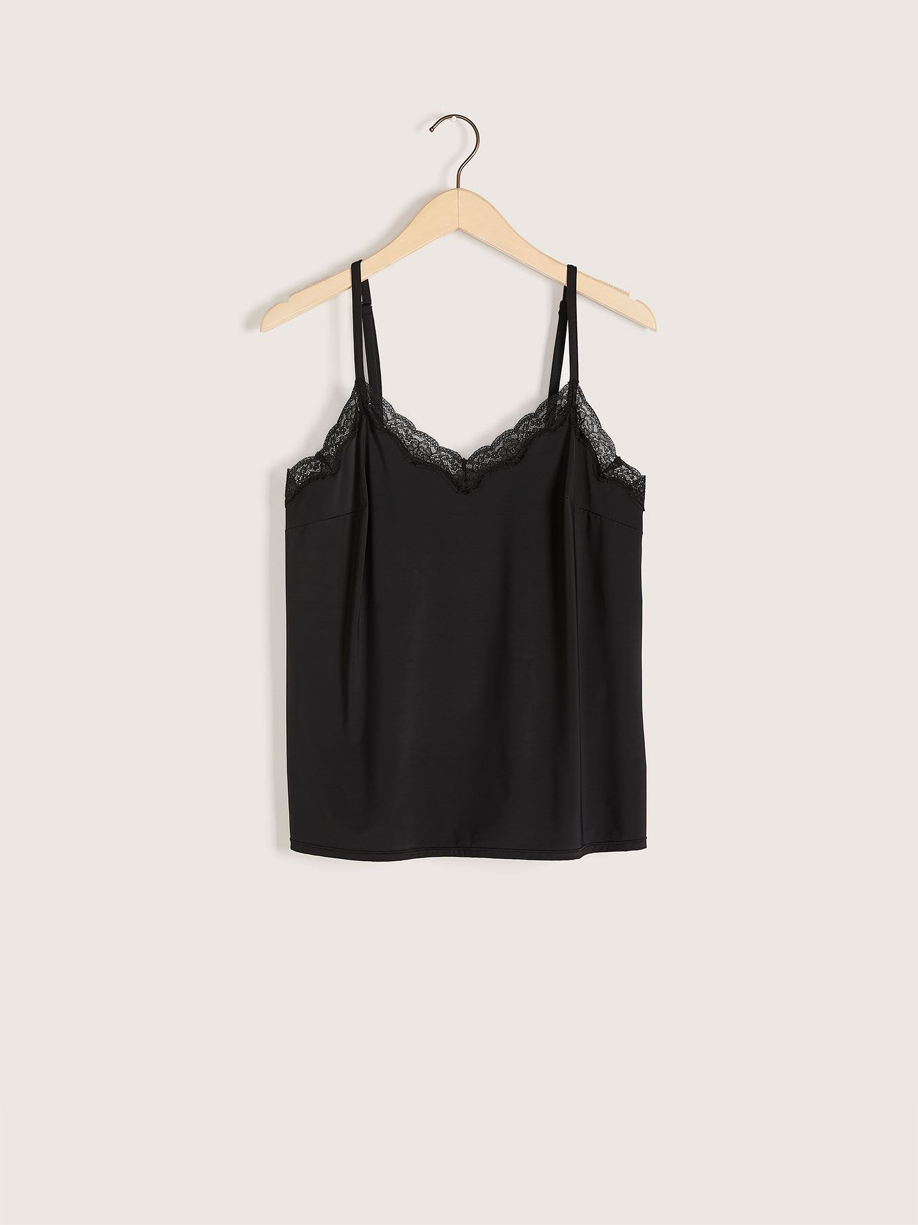 Slip Camisole with Lace Trim - Addition Elle