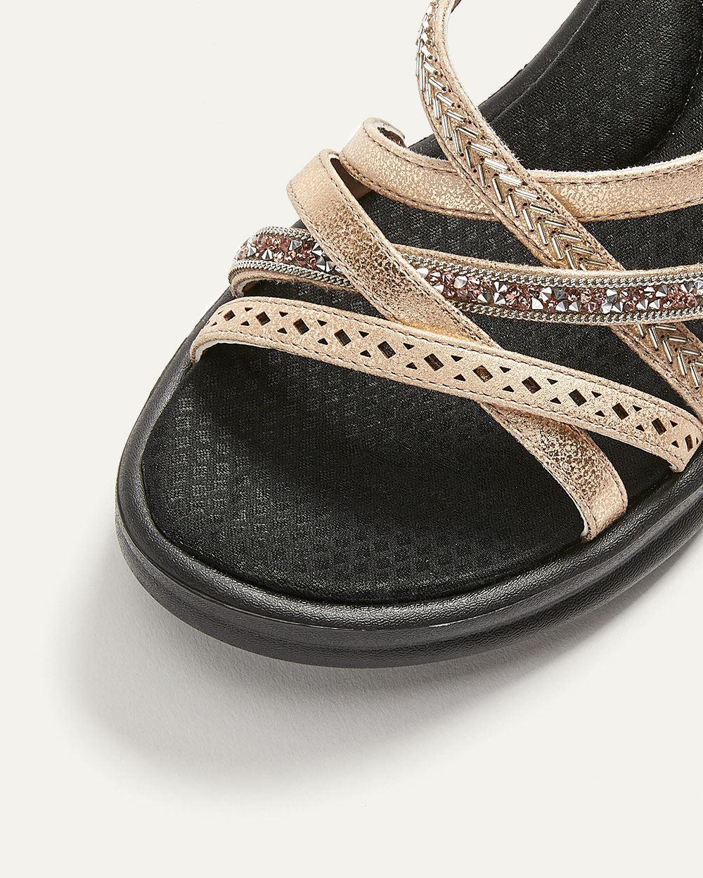0fbb3397 Skechers Rumblers Wave, New Lassie - Wide Width Wedge Sandals ...