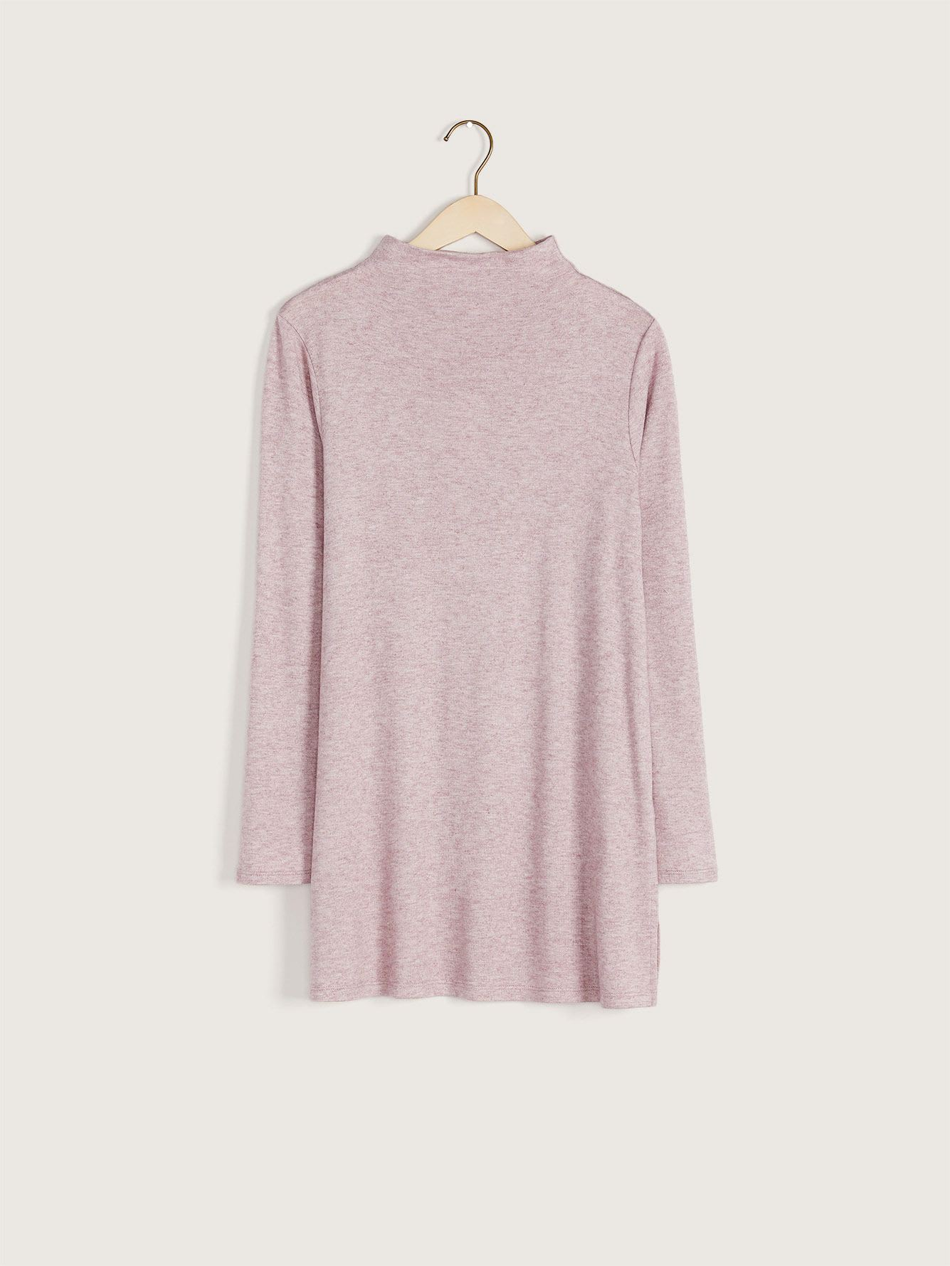 Mock-Neck Knit Tunic - Addition Elle