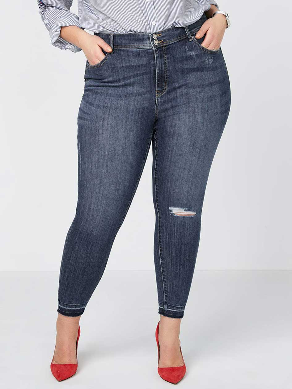 Straight Fit High Waisted Skinny Jean - d/C JEANS