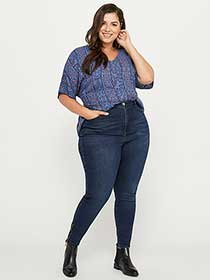 ONLINE ONLY - Tall Slightly Curvy High Rise Skinny Jean with Ankle Zips - d/C JEANS