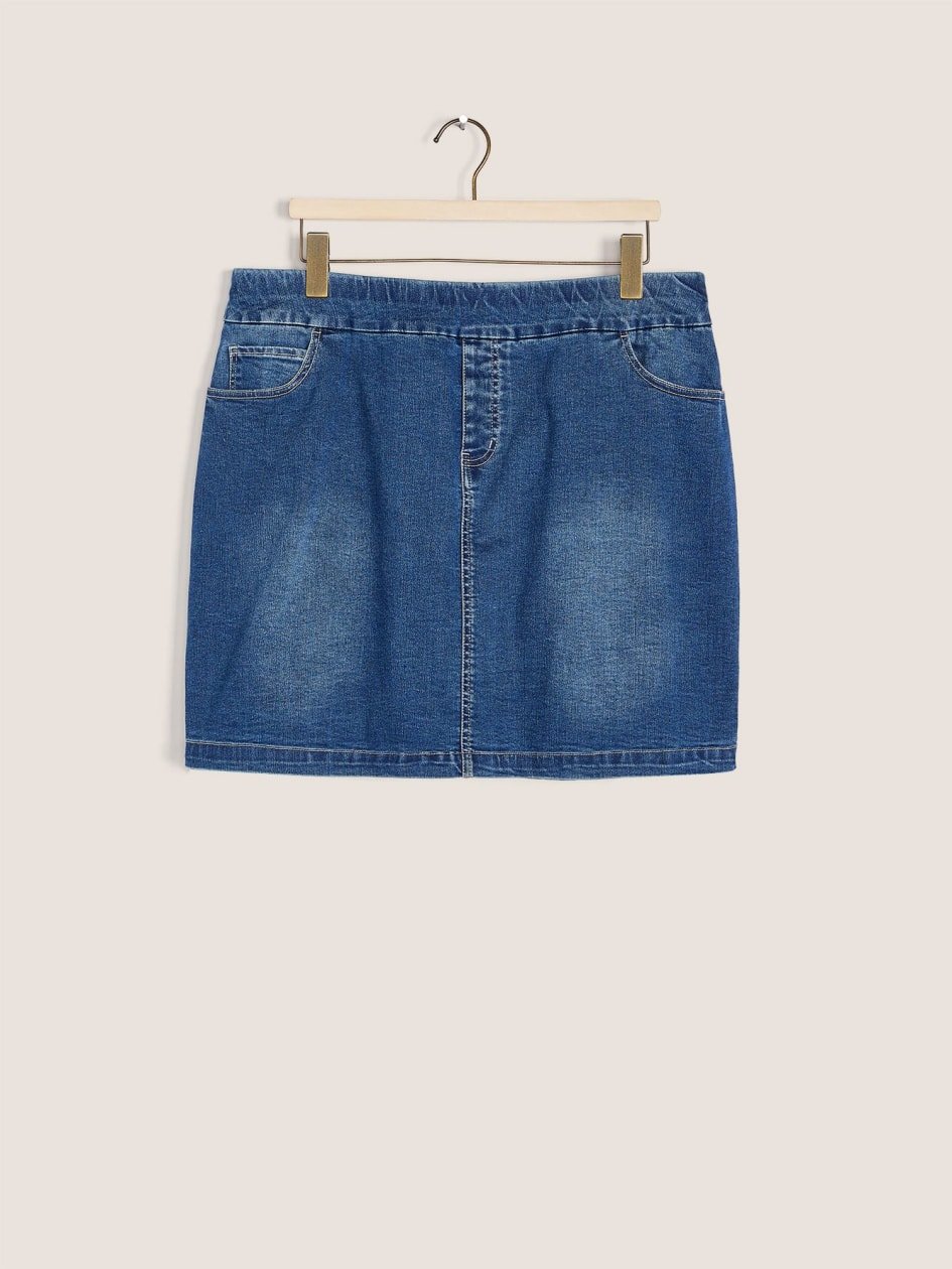Hi-Low Denim Skort - In Every Story