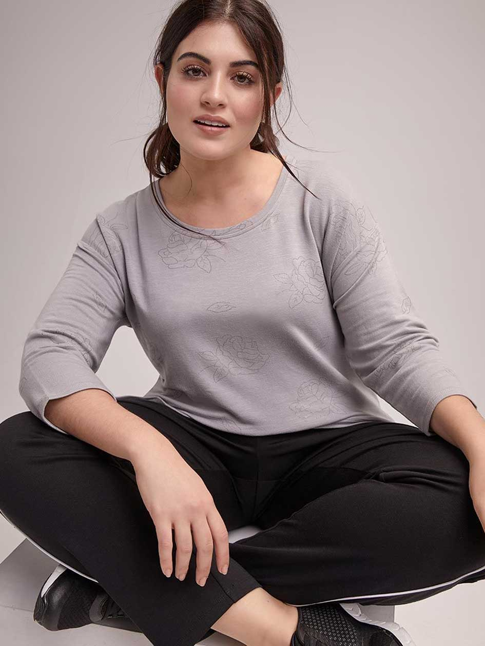 Plus Size Side Striped Relaxed Pant - ActiveZone