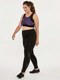 Plus Size Legging with Mesh - ActiveZone