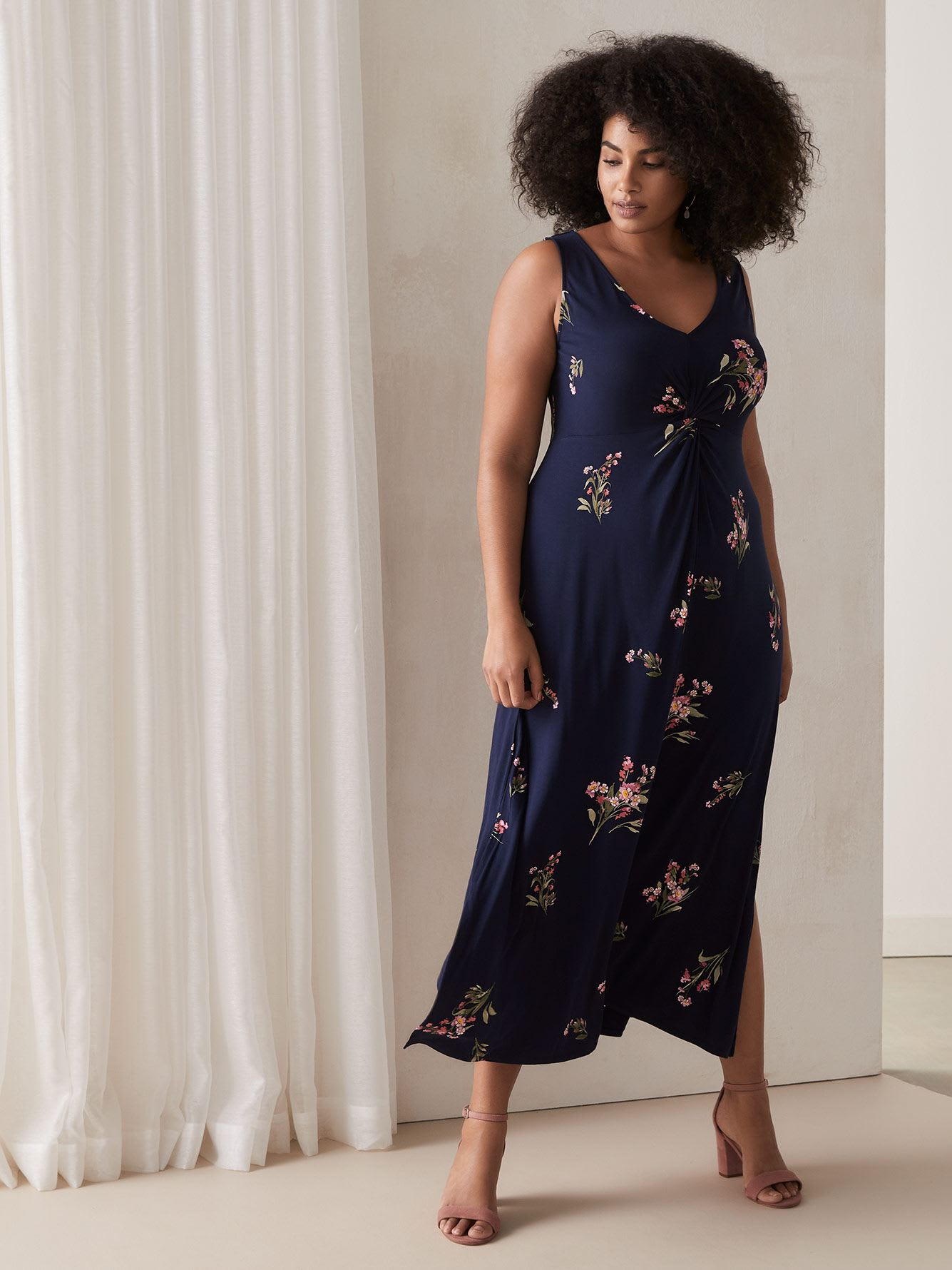 4224ddc77aaa Maxi Dress with Twisted Front | Penningtons