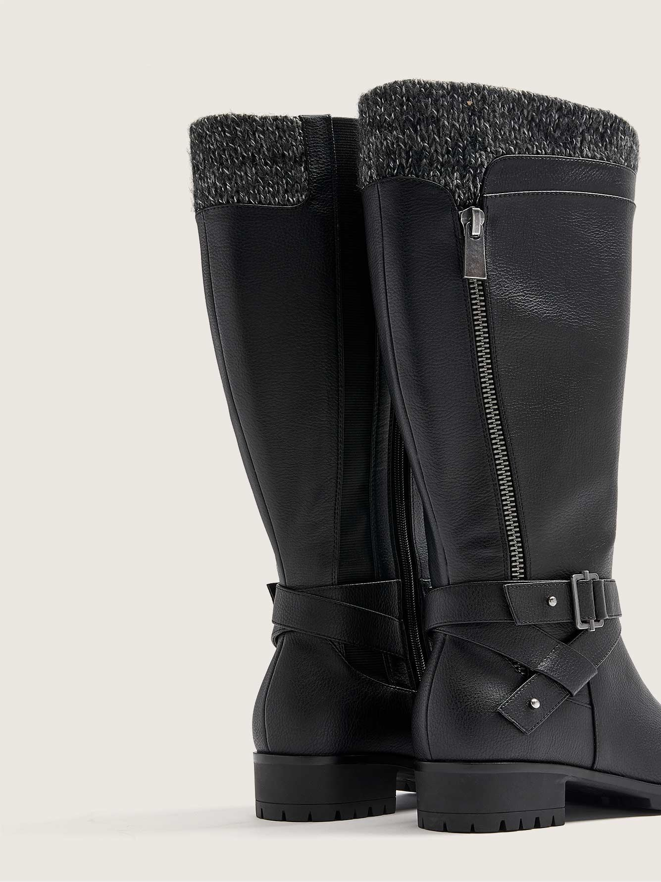 Wide-Fit Water-Resistant Tall Boot - Addition Elle