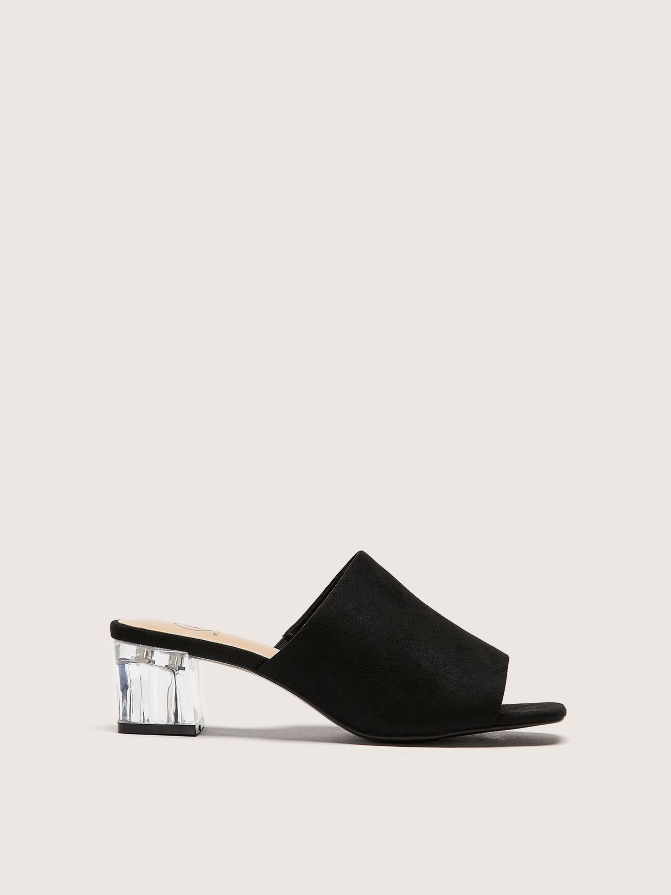 Wide Clear Block Heel Sandal - Addition Elle