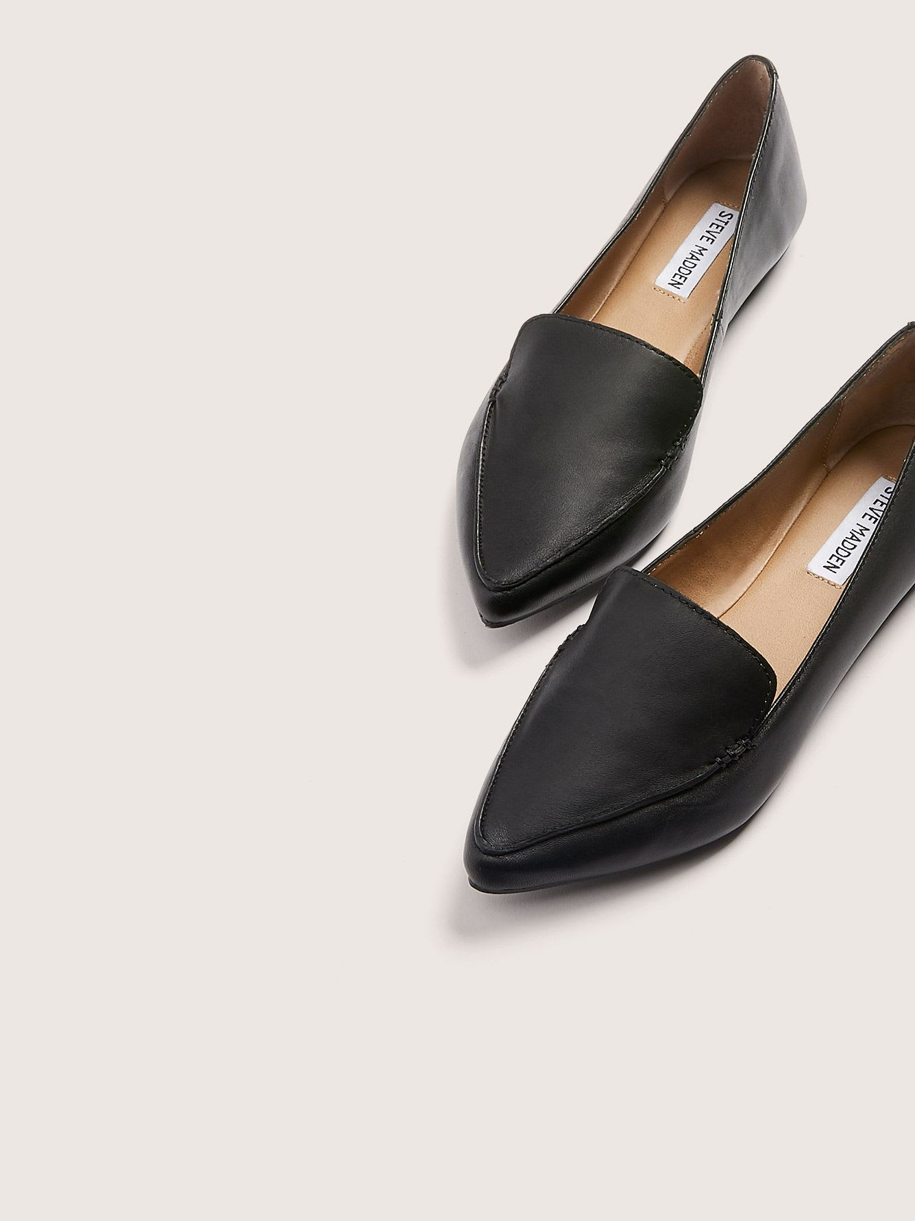 Wide Width Pointed Toe Feather Loafers