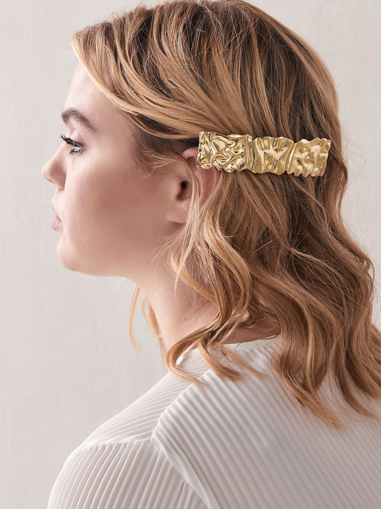 Oversized Textured Barrette - Addition Elle