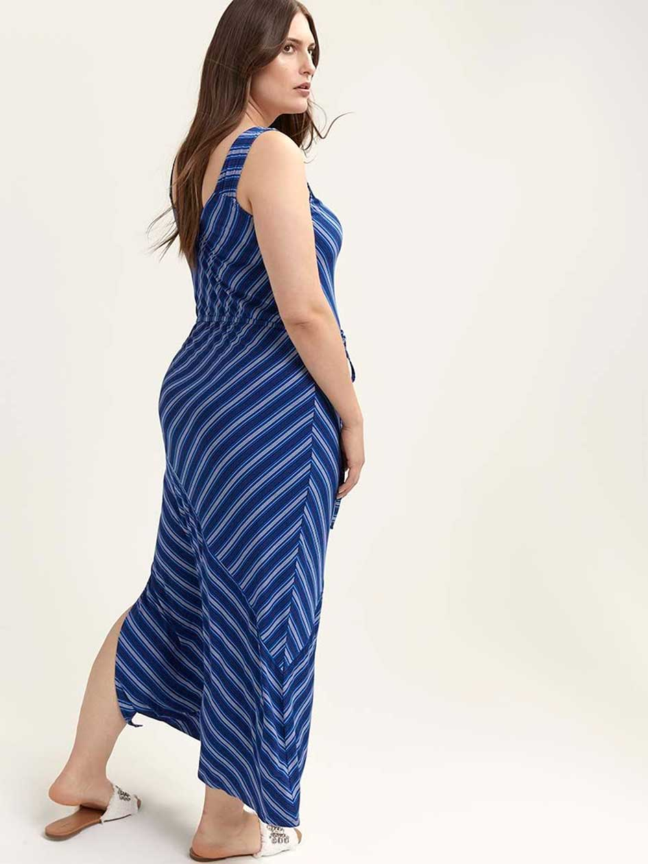 Printed Sleeveless Maxi Dress with Side Slit - In Every Story