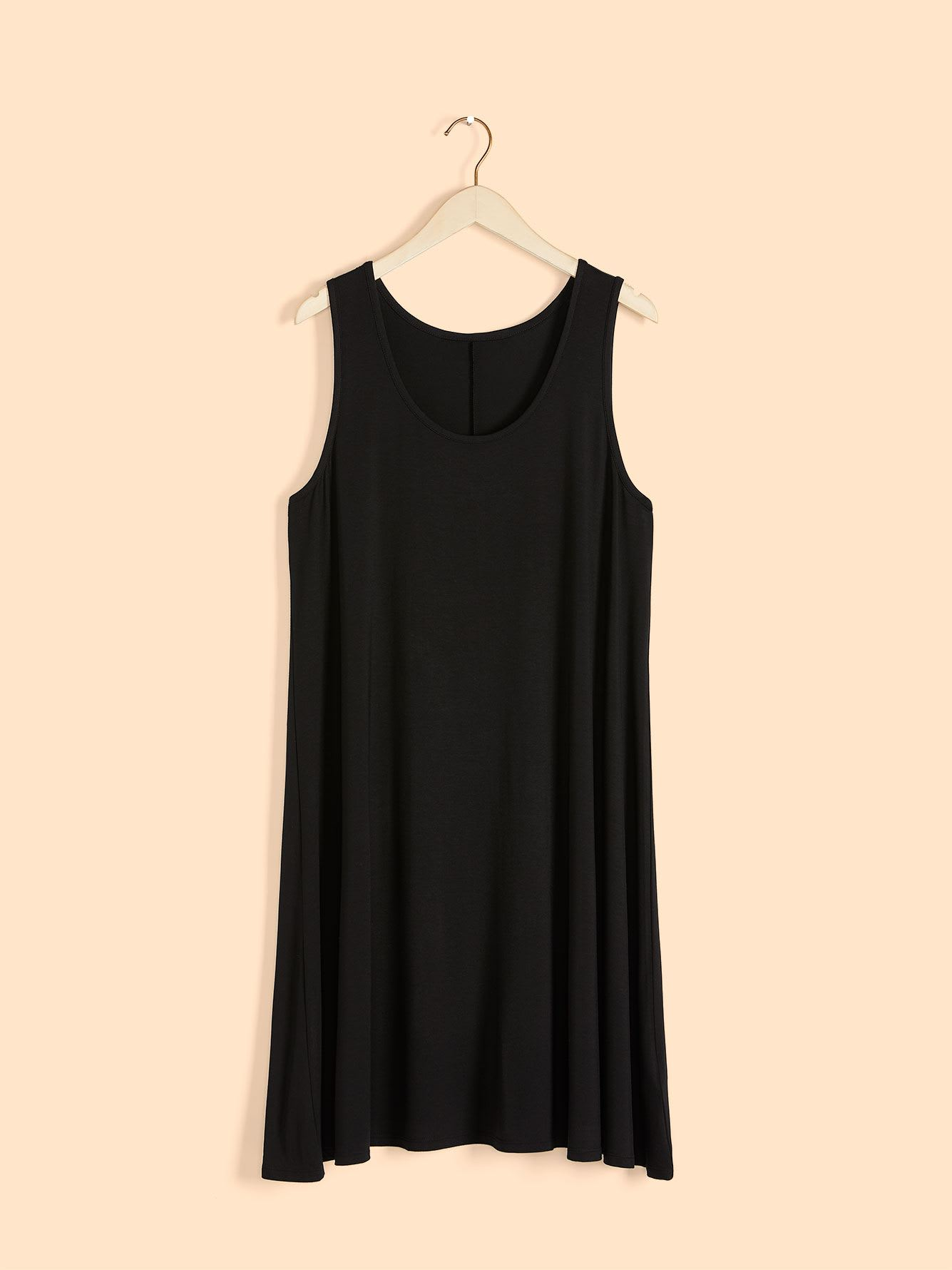 Short Solid Swing Tank Dress - In Every Story