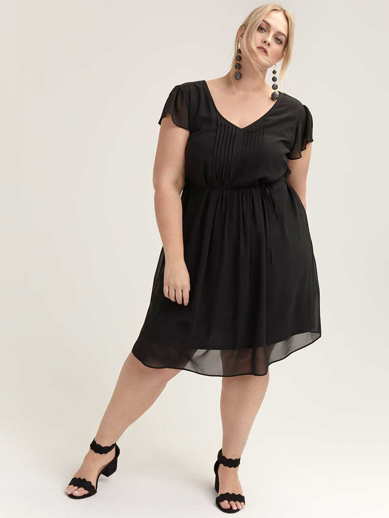 Flutter Sleeve Dress with Pintucks - In Every Story