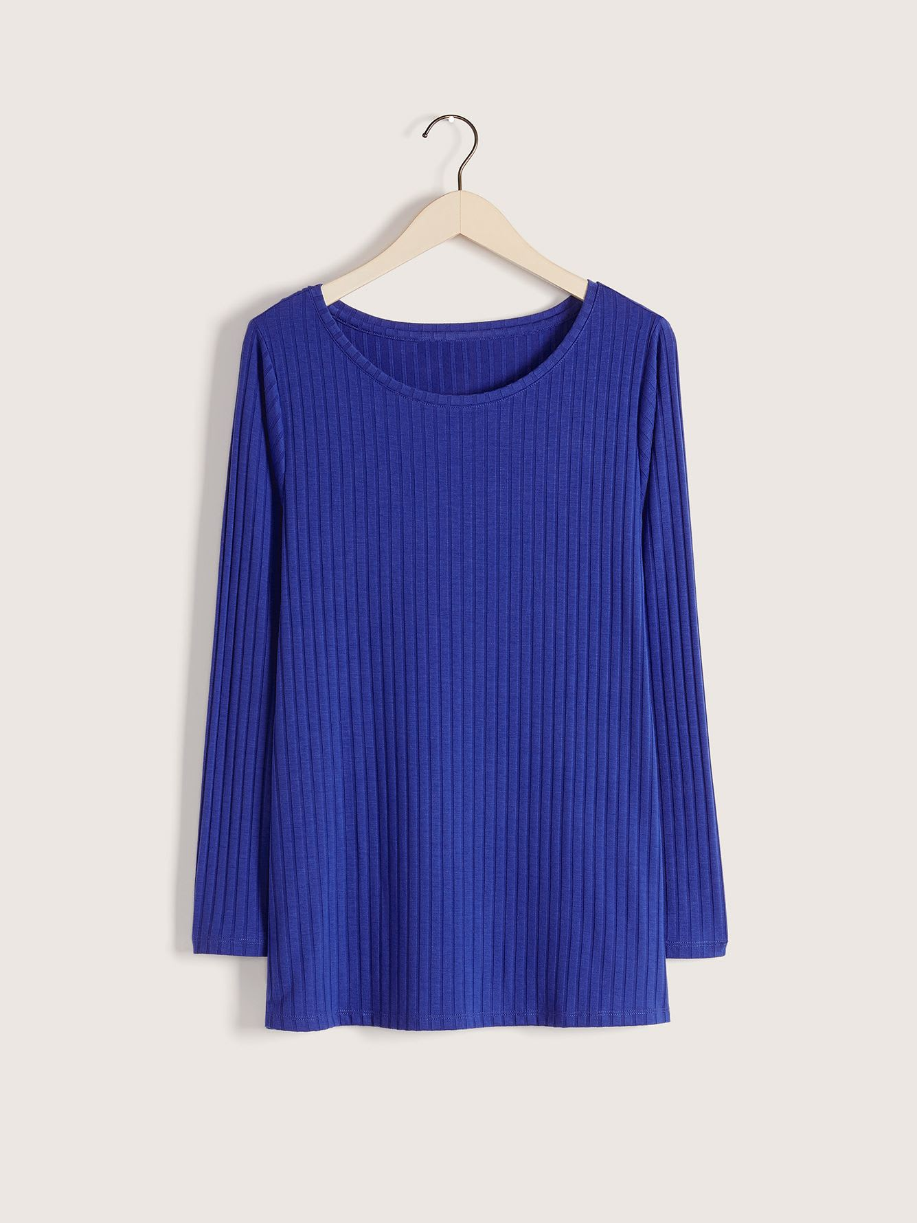 Long-Sleeve Ribbed Top - Addition Elle