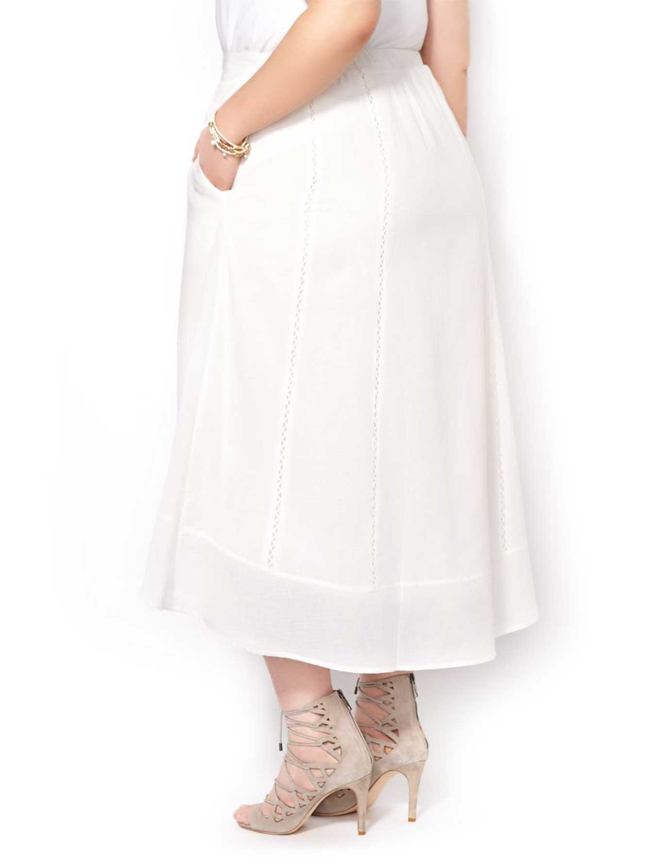80e6afe0a55 MELISSA McCARTHY Cotton Maxi Skirt