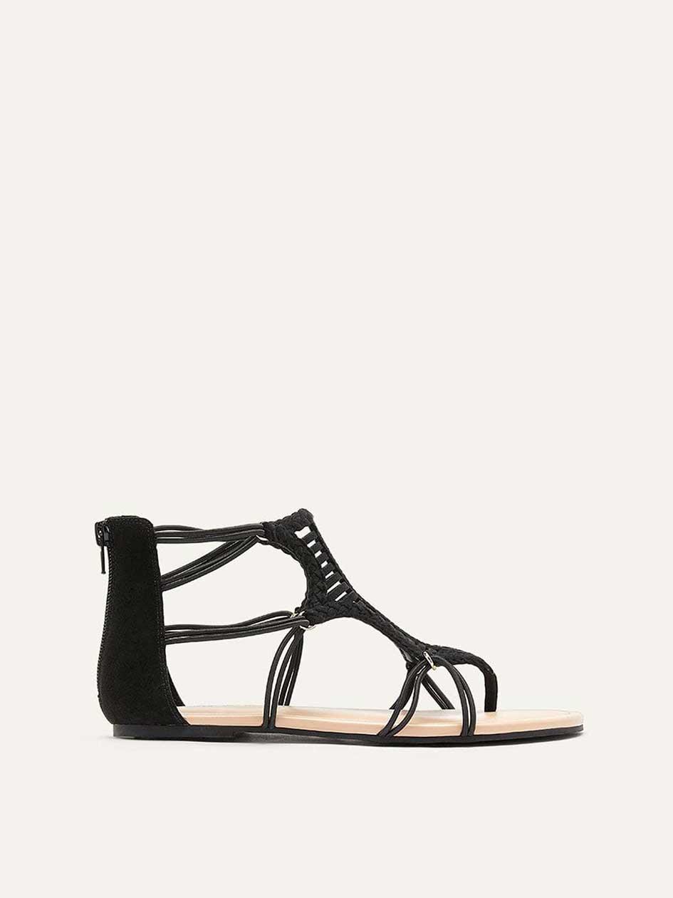 27c728e76e89d9 Extra Wide Flat Multi-Cord Sandals