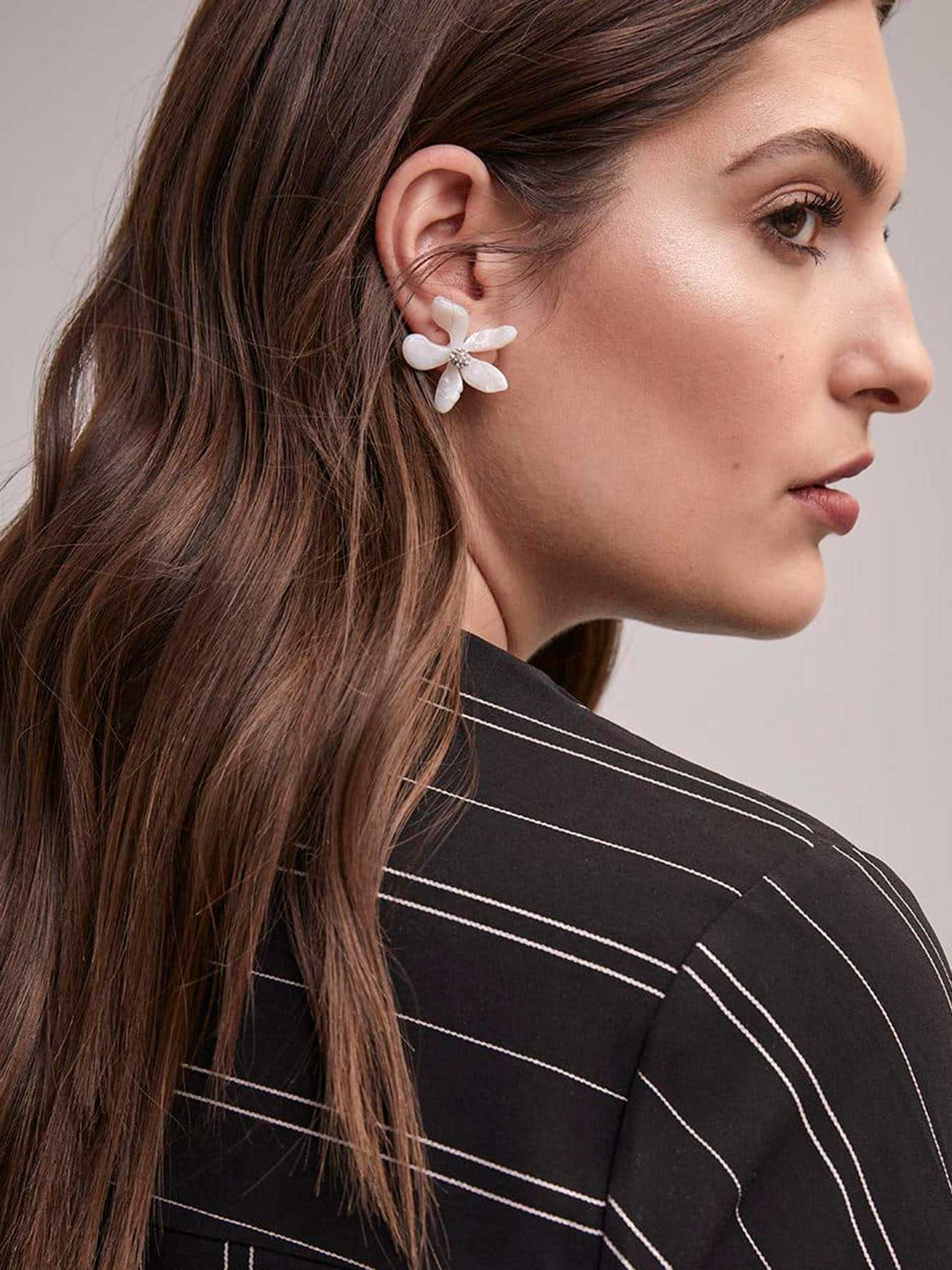 Flower Earrings with Studs