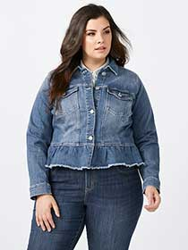 Peplum Denim Jacket - d/c JEANS