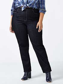 ONLINE ONLY - Tall Curvy Fit Straight Leg Jean - d/c JEANS
