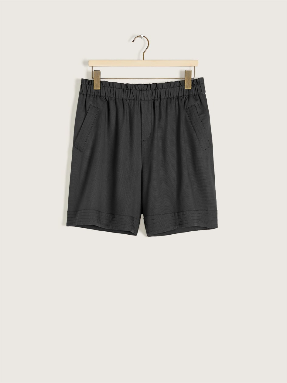 Solid High Waisted Paperbag Short - Addition Elle