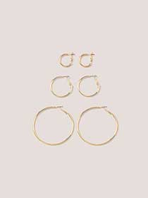 Pack of 3 Hoop Earrings