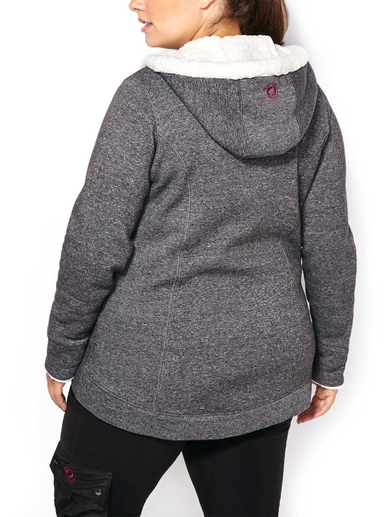 e5f61f6288a Sports - Plus-Size Hoodie with Sherpa Trim