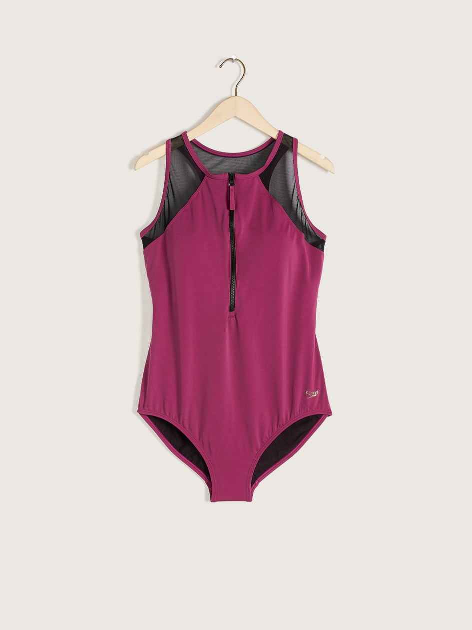 Zip-Up One-Piece Swimsuit - Speedo