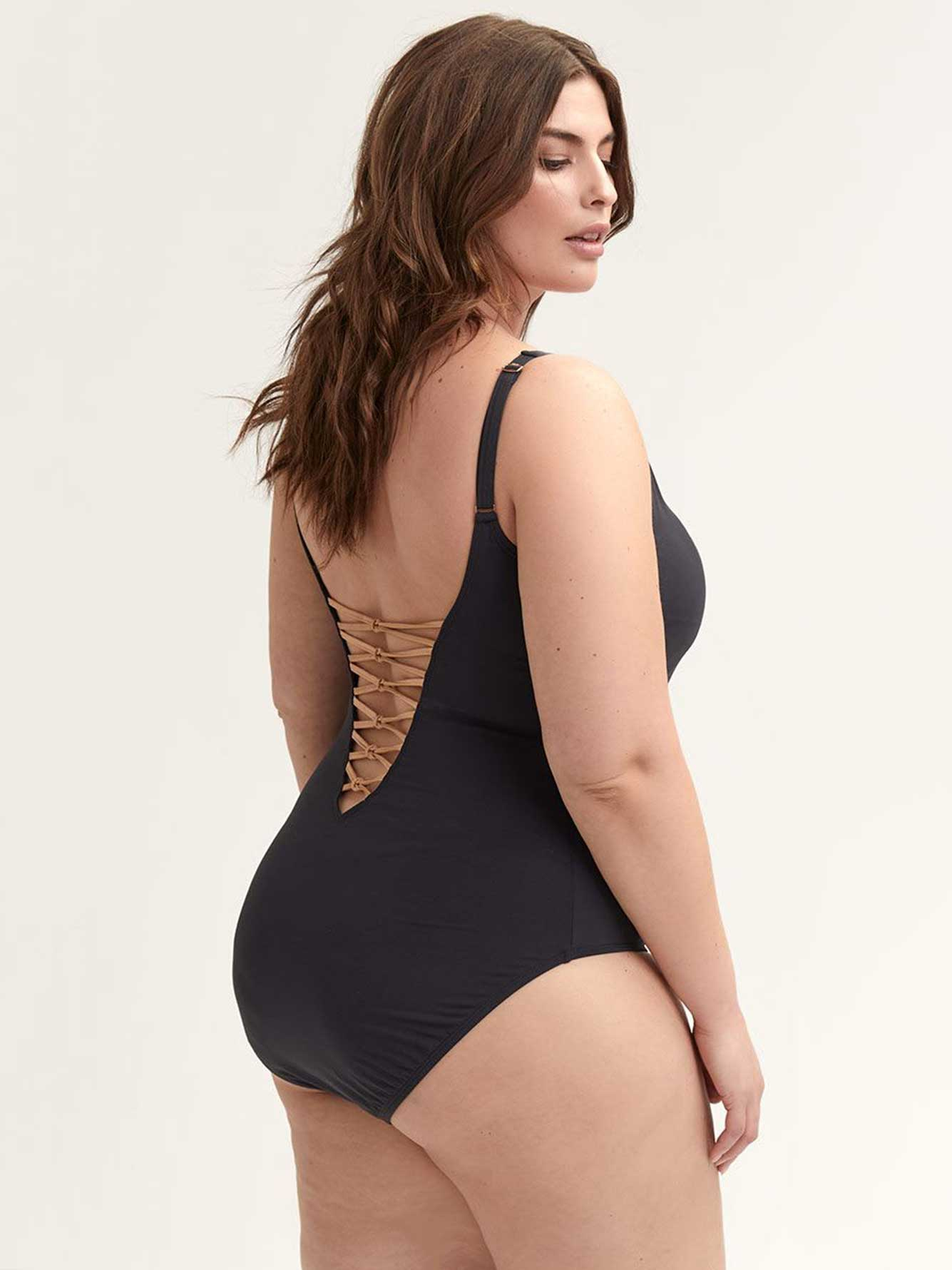 4d5674ffa5 Lace-Down One-piece Swimsuit - Bleu Rod Beattie   Penningtons