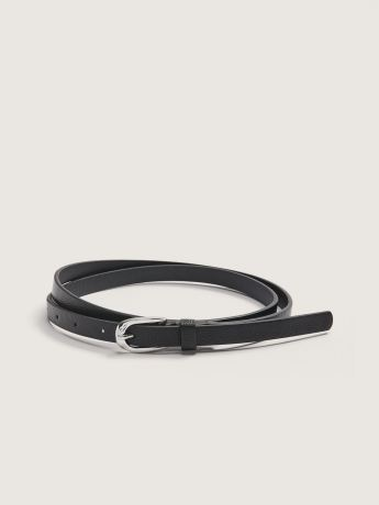 Skinny Faux Leather Belt - Addition Elle