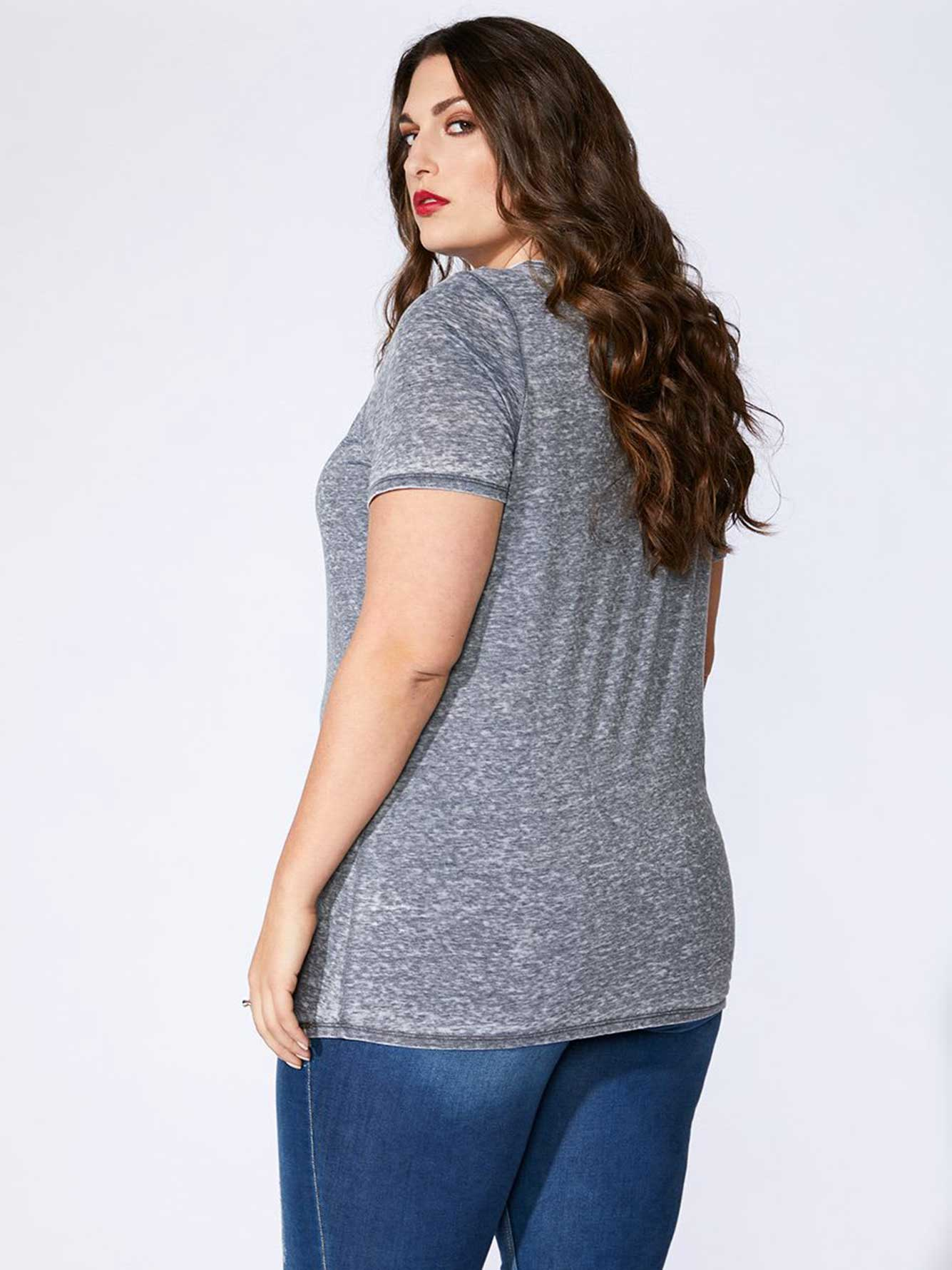Short Sleeve Top with Drawstring - mblm