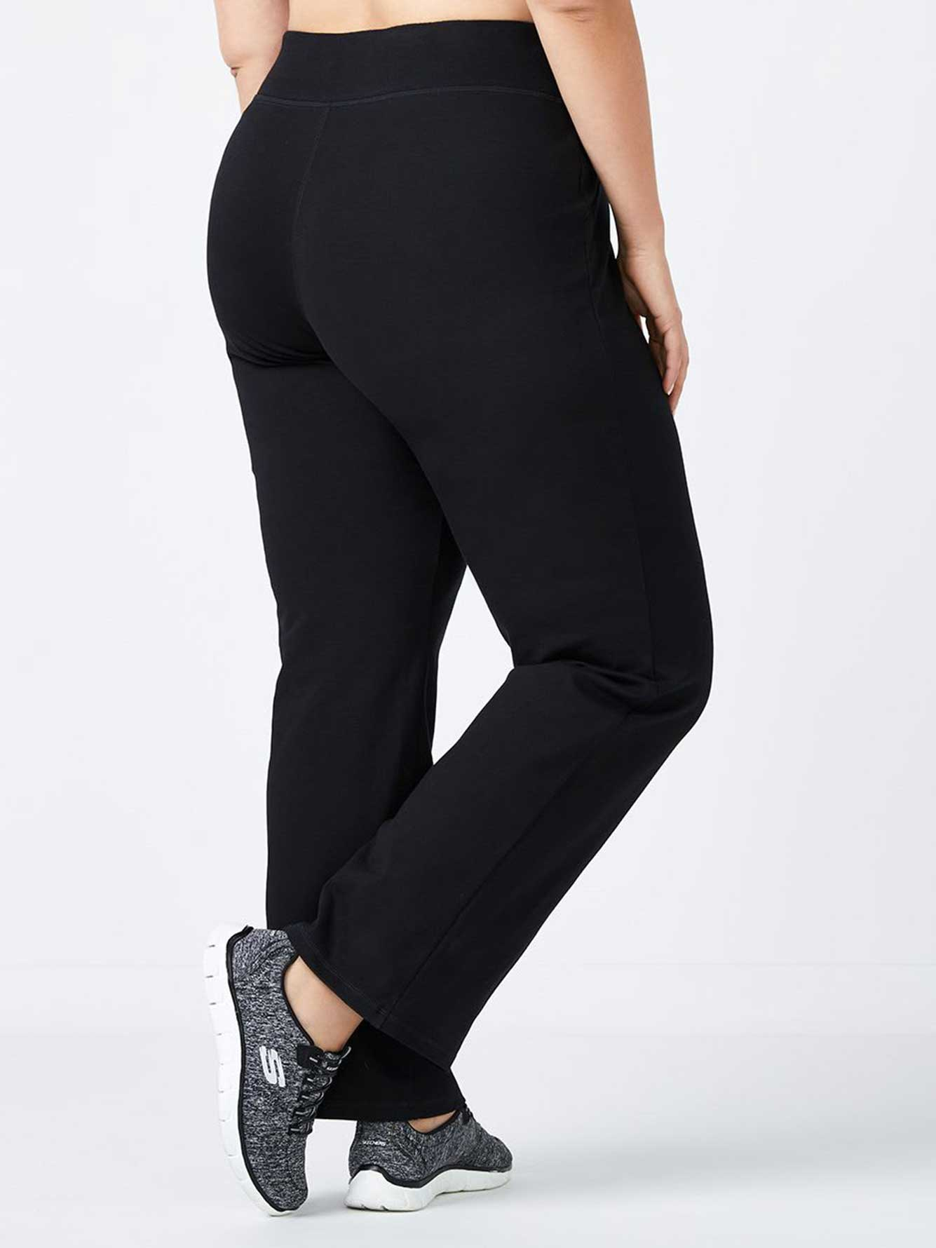 Essentials - Petite Plus-Size Basic Relaxed Pant